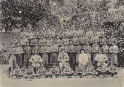 1st Kandy scouts with Founder of World Scout Movement Lord Baden Powell and his wife Lady Olave Powell